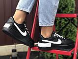 Женские кроссовки  Nike Air Force 1 Shadow черные с белым, фото 4
