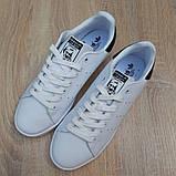 Мужские кроссовки Adidas Stan Smith Белые с чёрным, фото 6