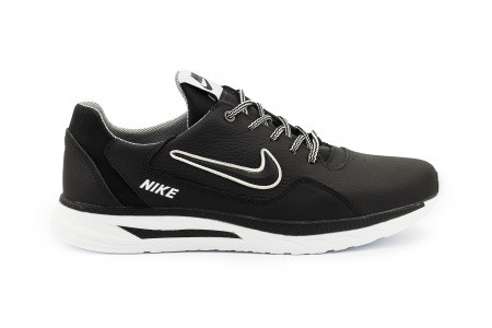 Мужские кроссовки кожаные Nike весна/осень черные CrosSAV 316