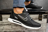 Мужские кроссовки кожаные Nike весна/осень черные CrosSAV 316, фото 8