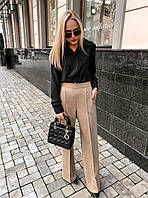 Женская стильная  блуза рубашка чёрный