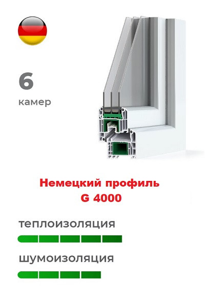 Немецкий профиль 4000 пластиковых окон