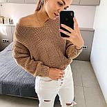 Жіночий стильний базовий вовняний светр/ джемпер (в кольорах), фото 2