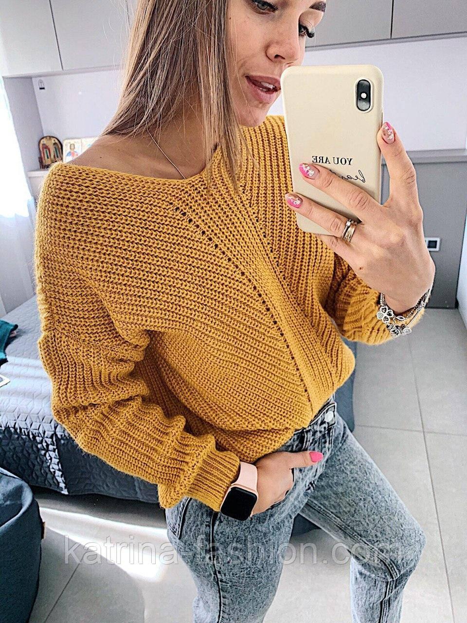 Женский стильный базовый шерстяной свитер/ джемпер (в расцветках)