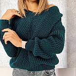 Жіночий стильний базовий вовняний светр/ джемпер (в кольорах), фото 3