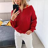 Жіночий стильний базовий вовняний светр/ джемпер (в кольорах), фото 4