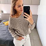 Жіночий стильний базовий вовняний светр/ джемпер (в кольорах), фото 5