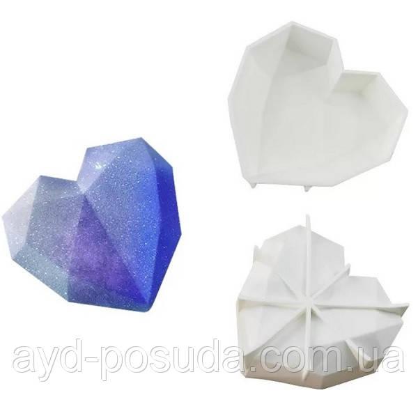 """Силиконовая форма для евроторта """"Сердце-Оригами"""" арт. 850-5A18022"""
