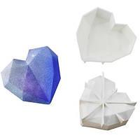 """Силиконовая форма для евроторта """"Сердце-Оригами"""" арт. 850-5A18022, фото 1"""