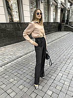 Женская стильная  блуза рубашка бежевый