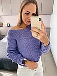 Жіночий стильний базовий вовняний светр/ джемпер (в кольорах), фото 7