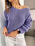 Жіночий стильний базовий вовняний светр/ джемпер (в кольорах), фото 8