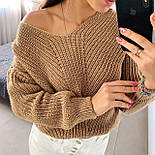 Жіночий стильний базовий вовняний светр/ джемпер (в кольорах), фото 9