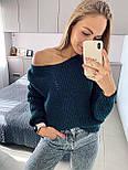 Жіночий стильний базовий вовняний светр/ джемпер (в кольорах), фото 10