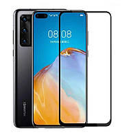 Защитное стекло Huawei P40 черный 5D
