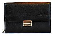 Клатч кожаный мужской черный Giorgio Armani 776, фото 1