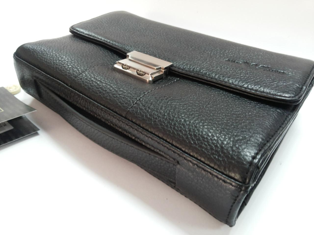 b8632722c704 Клатч кожаный мужской черный Giorgio Armani 776 - купить по лучшей ...