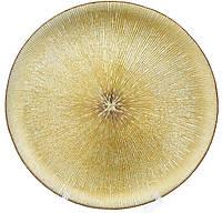 "Скляне ""золоте блюдо, 33см, фото 1"