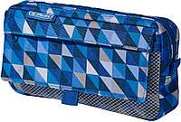 Пенал школьный с карманами Herlitz Pockets Melange Blue