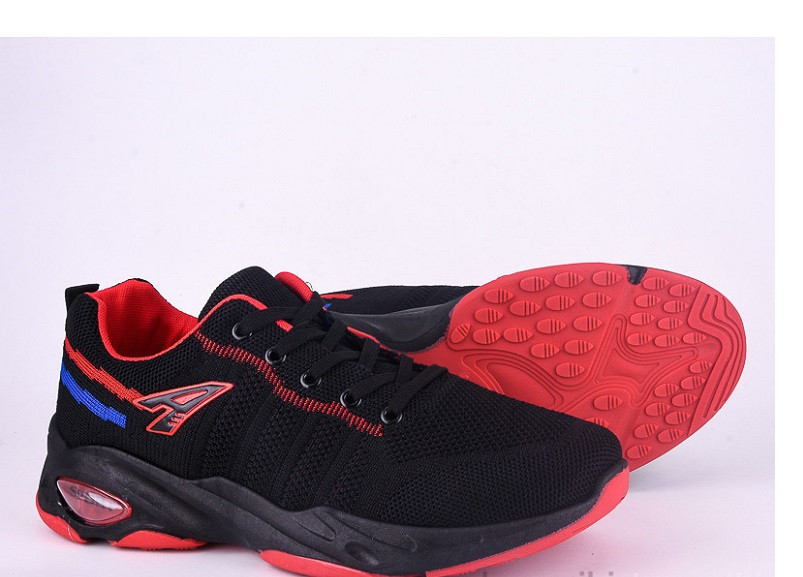Кроссовки мужские Violeta-45-62-black-red