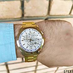 Мужские наручные часы золотые в стиле Tissot. Годинник чоловічий
