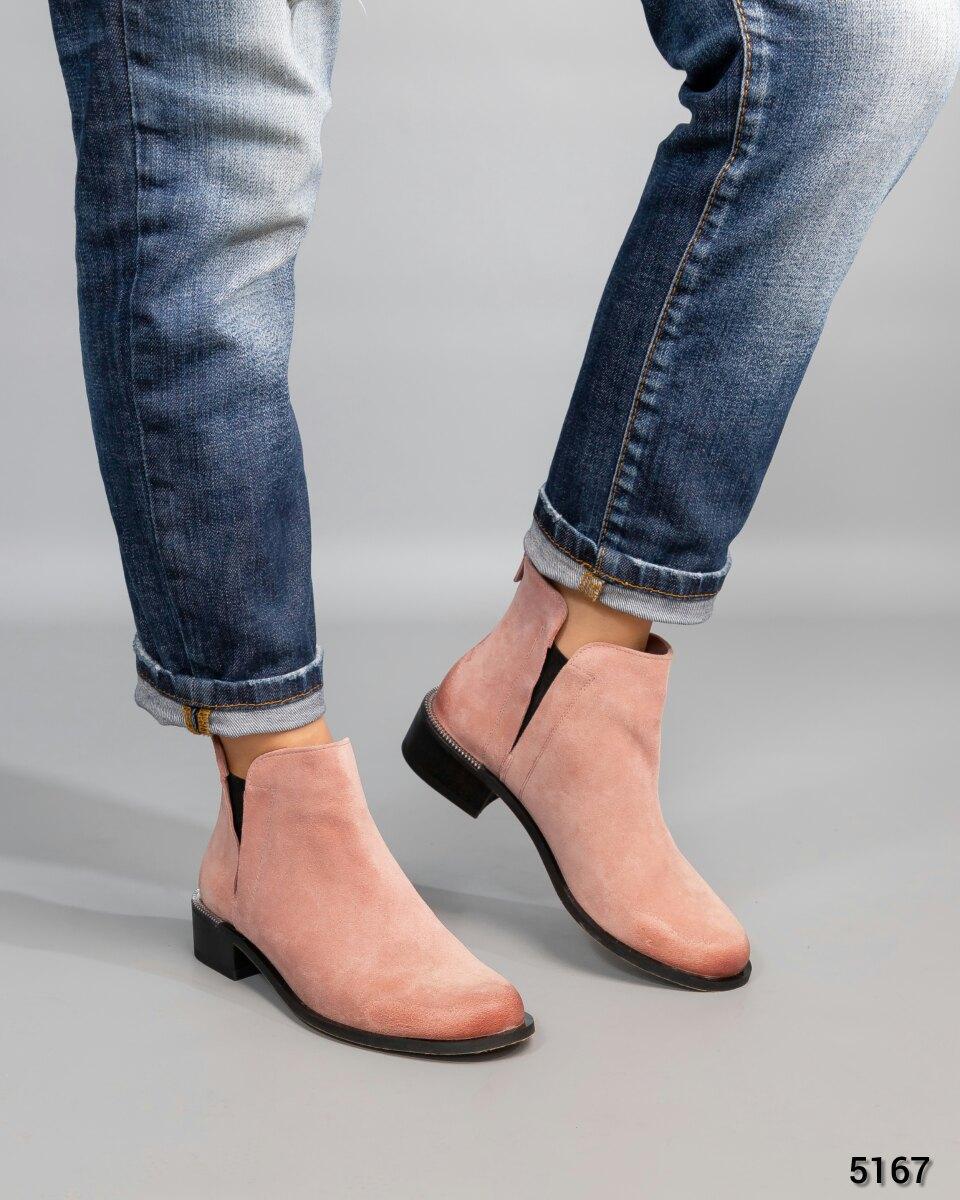 Весенние ботинки женские Vivendi светло-розовые натуральная замша. Размер 39