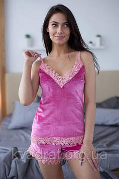 Комплект для сна майка и шорты Розовый