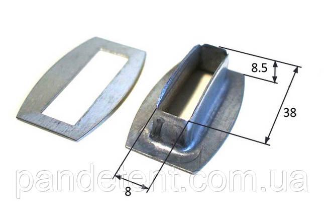 Люверсы прямоугольные 38х8 мм для крепления тента на прицеп, полуприцеп, кузов, фото 2