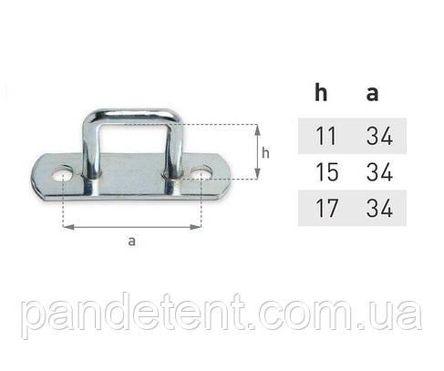 Скоба для тента H11 мм, под ремень, фото 2