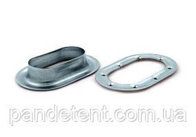 Люверс овальный 42х22 мм, кольцо крепежное для крепления тента на прицеп, полуприцеп, фургон