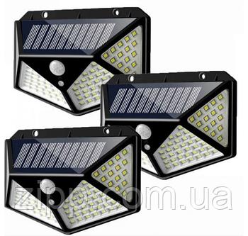 Світильник з датчиком руху на вулицю на сонячній батареї solar interaction wall lamp 100 LED