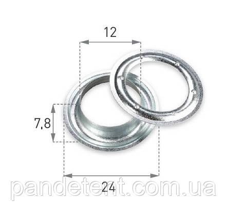 Кольца - люверсы крепежные Ø 12мм оцинкованные (Польша), фото 2