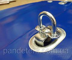 Комплект(Скоба поворотная+люверс) для крепления шторы ПВХ, мягких окон
