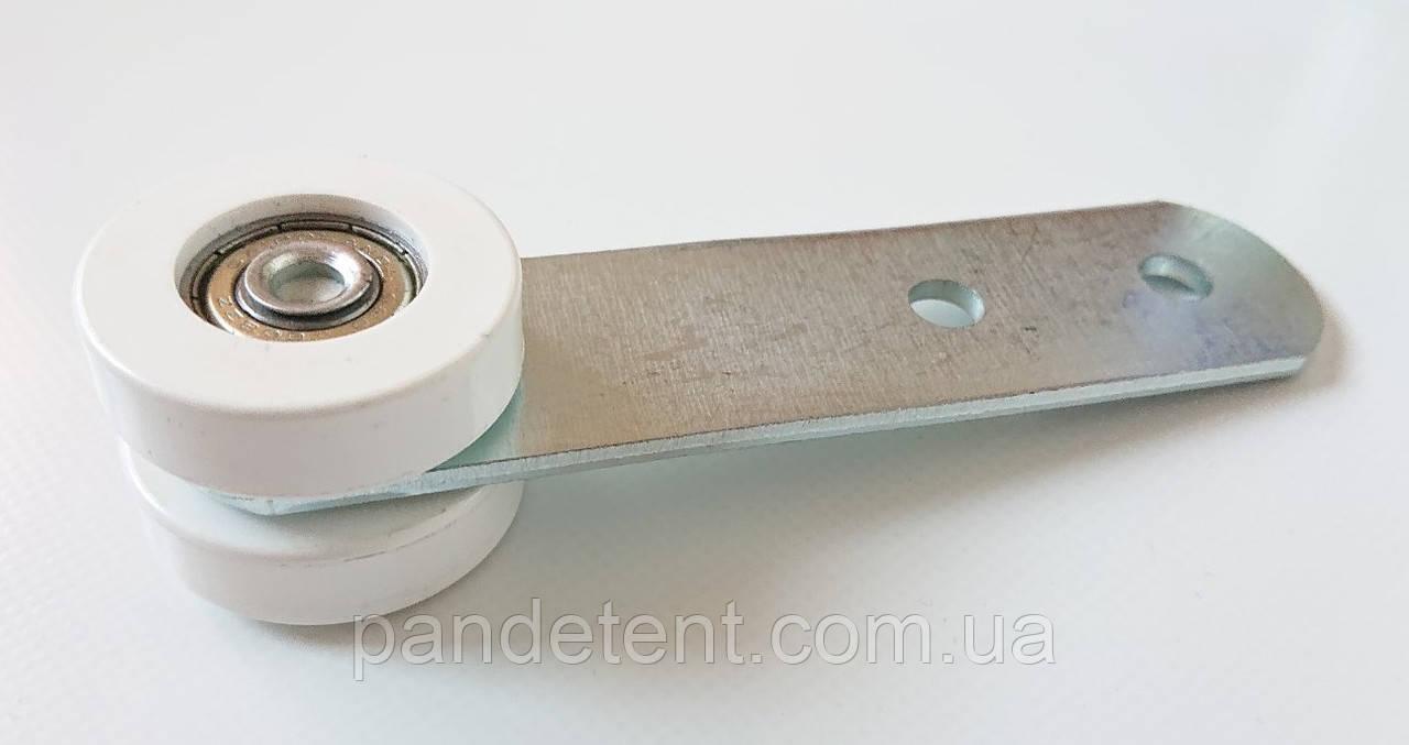 Ролик боковой шторы прицепа 37 мм на двух подшипниках в пластике