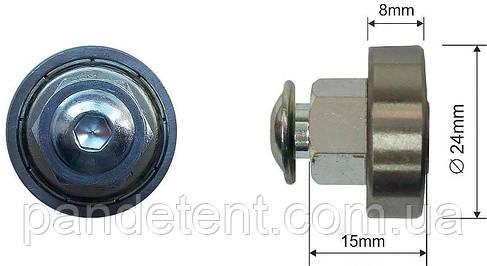 Ролик-подшипник сдвижной крыши полуприцепа TSE-Kogel D=24x8mm, фото 2