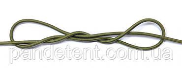 Эспандер эластичный шнур 8 мм цвет Хаки (Польша) для лодки фитнеса спорта тренировок , сняряжения, фото 3