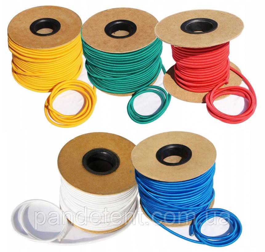 Эластичный шнур(эспандер) для аттракционов Ø 8 мм (Польша) -жолтый