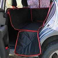 Автогамак  для собак Standart black/red (видеообзор)
