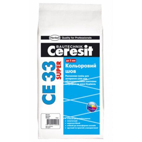 Затирка CE 33 Plus молочная 2кг (Ceresit)