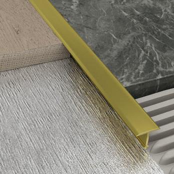Рейка порожек алюминиевый АП 10 золото матовое 2,5 м (TIS)