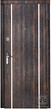 Двери входные коллекция Сити тиковое дерево+молдинг