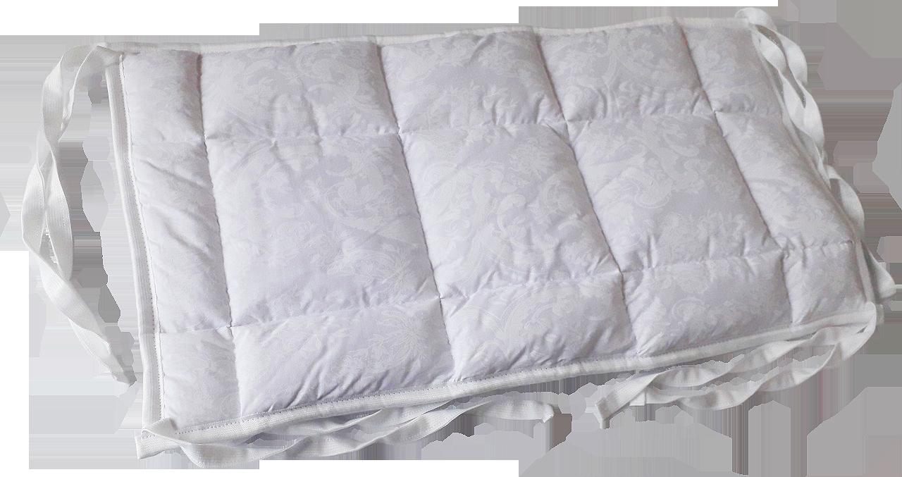 Бортик / захист в дитяче ліжечко / бортик защита в кроватку 59 * 33 см білий кант