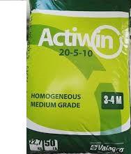 Комплексное минеральное удобрение Actiwin (Активин), 22.7кг, 20.5.10+ME, Весна-Лето, 3-4 мес., Valagro
