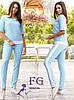 Синий брючный костюм с карманами для женщин размеры 50-52, фото 3