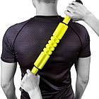 Масcажер роликовый ручной PowerPlay Massage Bar 4024 Жовтий, фото 4