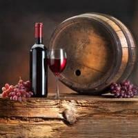 Вино - Кухонний фартух з скла