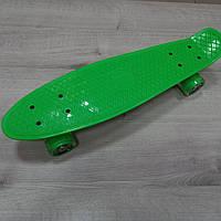 Penny Board. Салатовый цвет. Светящиеся колеса