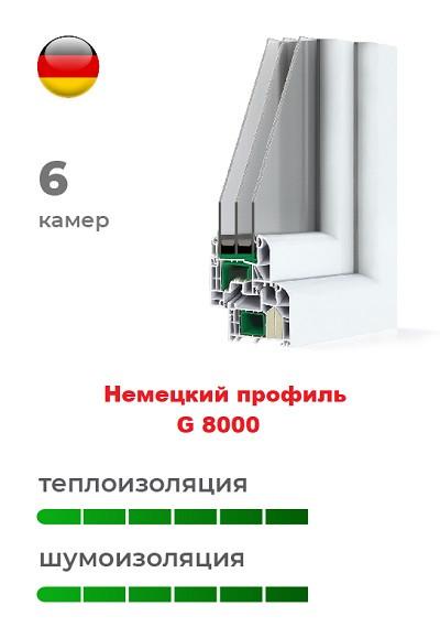 Немецкий профиль G 8000 пластиковых окон