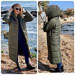 Куртка кокон довга зима 2020 в стилі ковдру M500 хакі / оливковий темно зелений колір