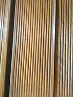 Террасная доска из сосны 35х100 покрыта маслом (светло-коричневая), сорт АВ